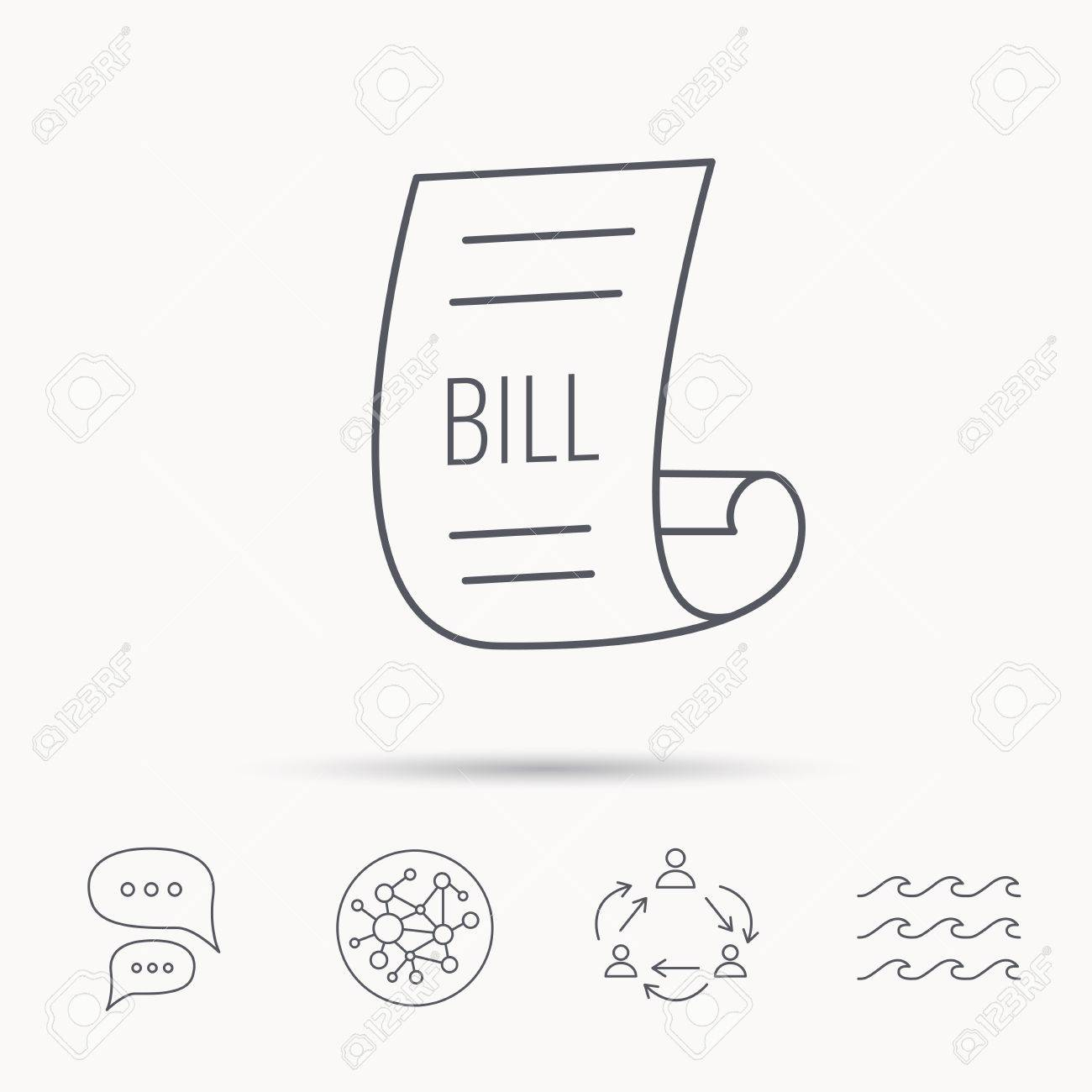 Bill Icon Pay Document Sign Business Invoice Or Receipt Symbol - Invoice ocean