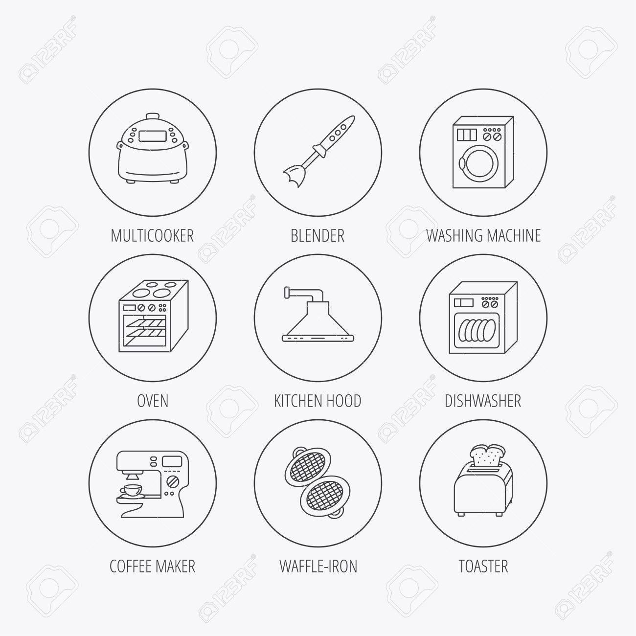 Häufig Spülmaschine, Waschmaschine Und Mixer-Symbole. Dunstabzugshaube VJ75