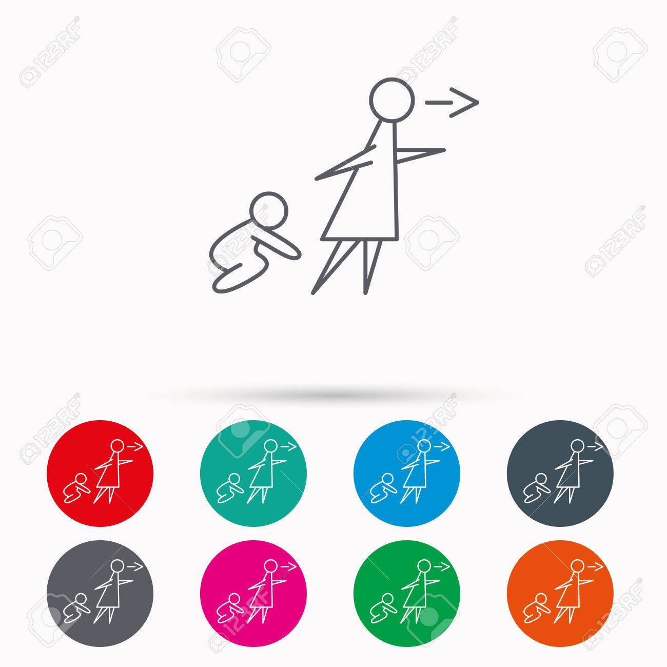 unattended baby icon babysitting care sign do not leave your babysitting care sign do not leave your child alone symbol
