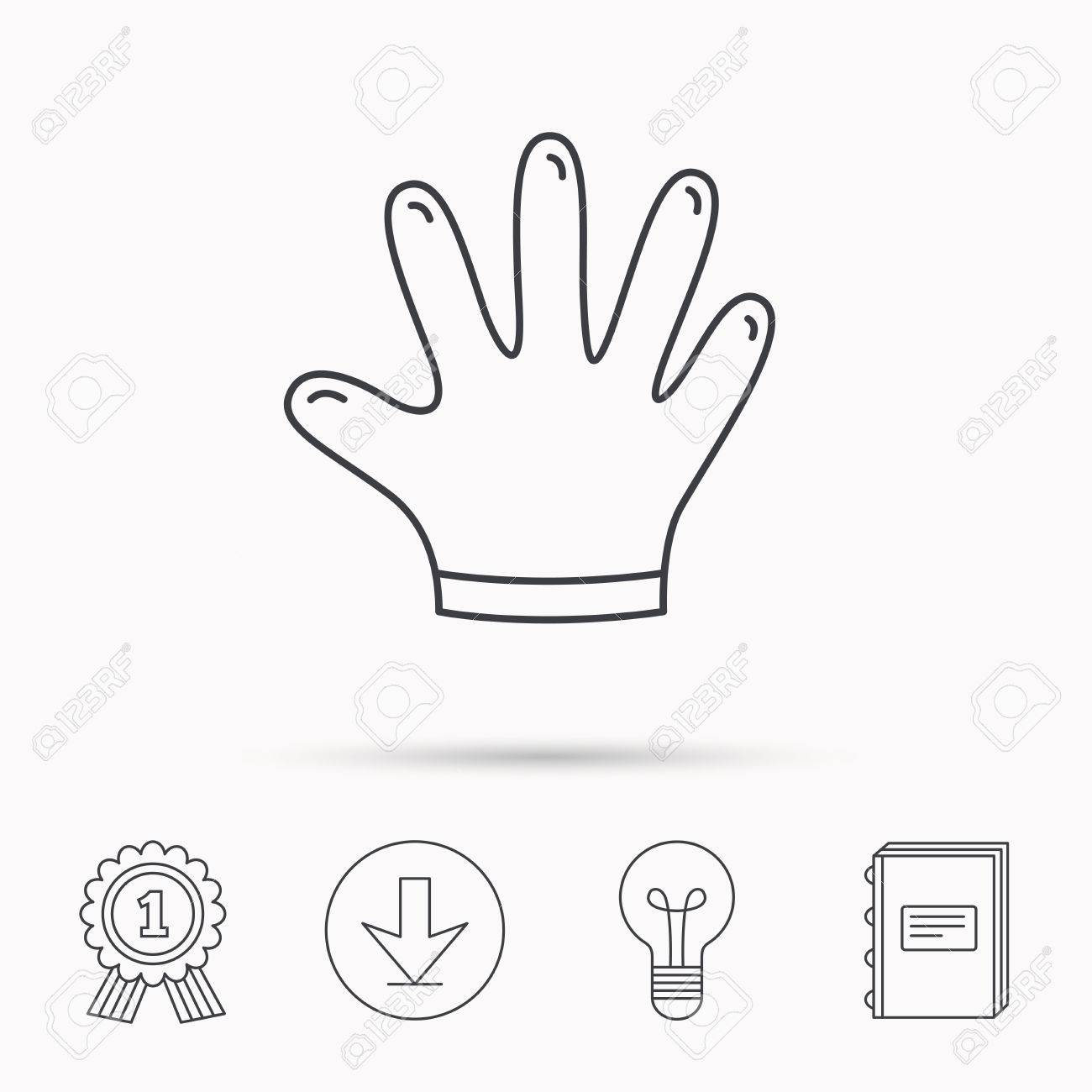 Rubber gloves icon latex hand protection sign housework cleaning latex hand protection sign housework cleaning equipment symbol download arrow biocorpaavc