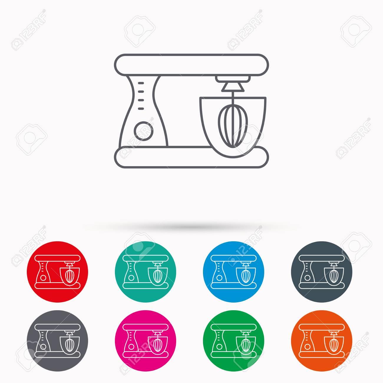 Mixer-Symbol. Elektrische Mixer Zeichen. Lineare Symbole Im Kreis ...