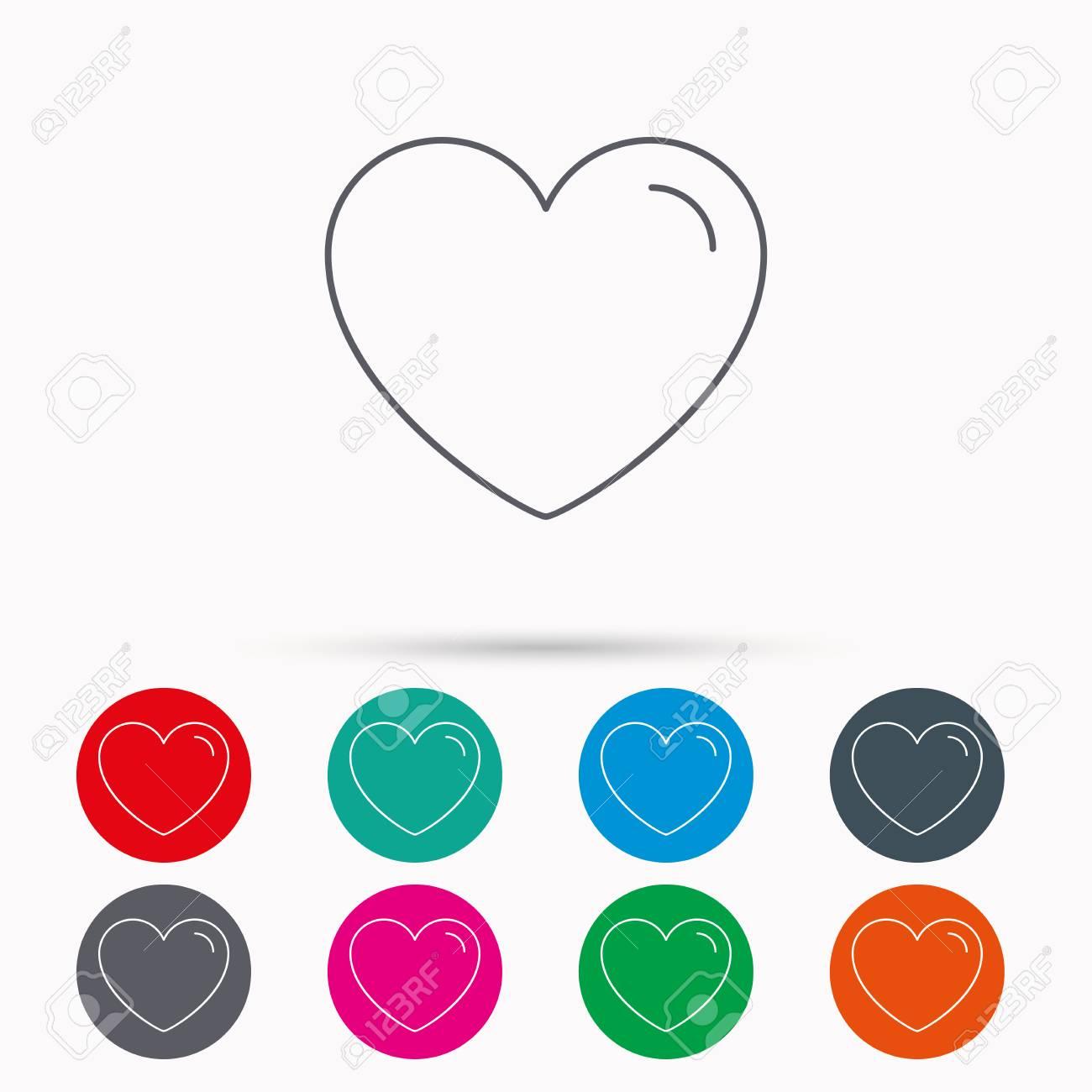 Love heart icon life sign like symbol linear icons in circles love heart icon life sign like symbol linear icons in circles on white buycottarizona