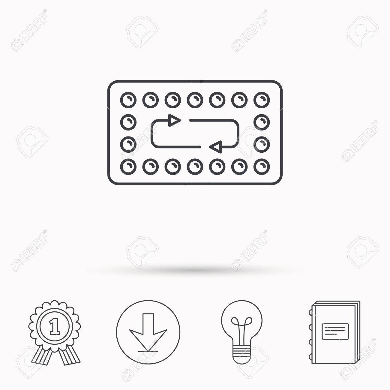 Contraception Pills Icon Pharmacology Drugs Sign Download Arrow