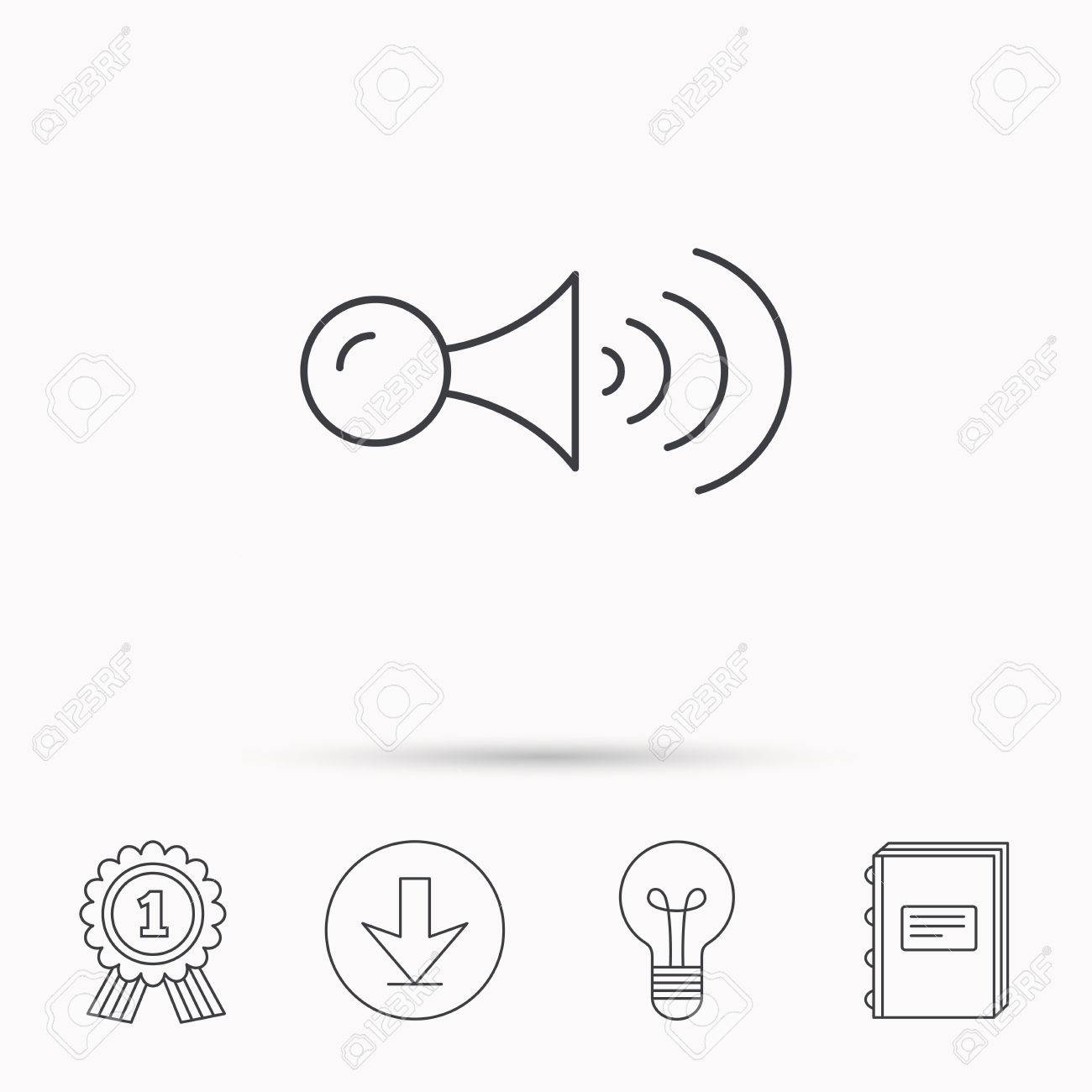 Klaxon Signal Icon Car Horn Sign Download Arrow Lamp Learn