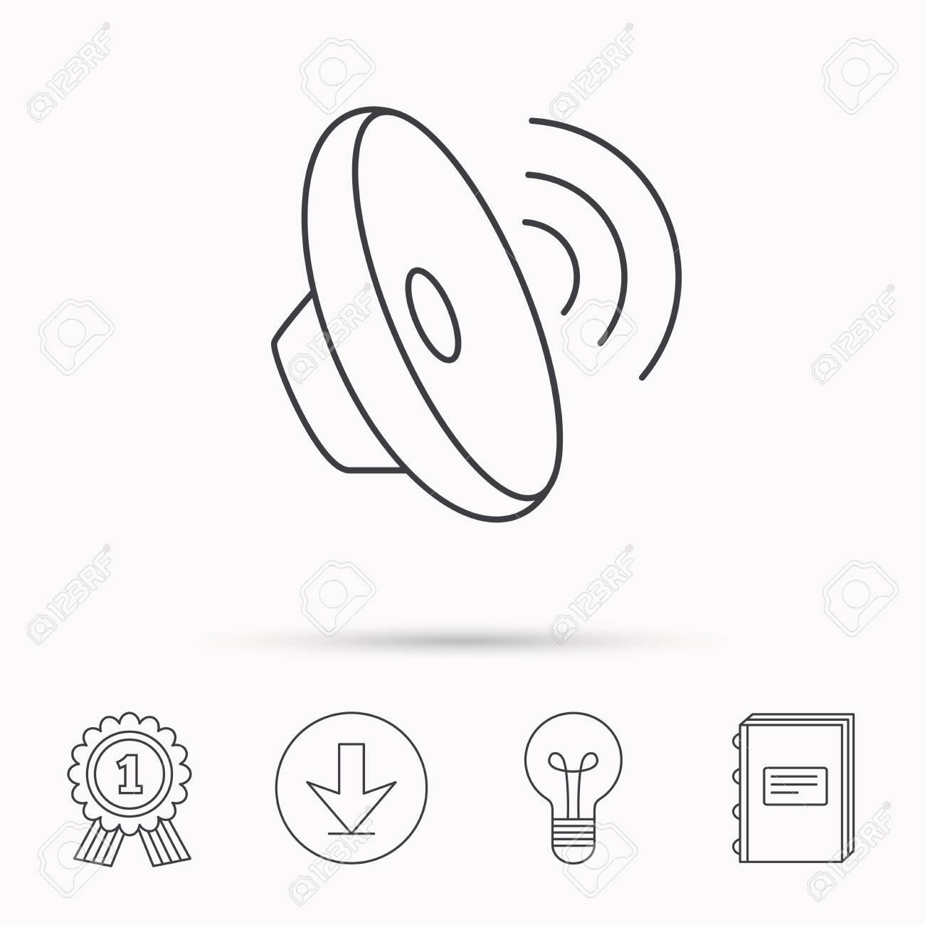 Sound waves icon  Audio speaker sign  Music symbol  Download