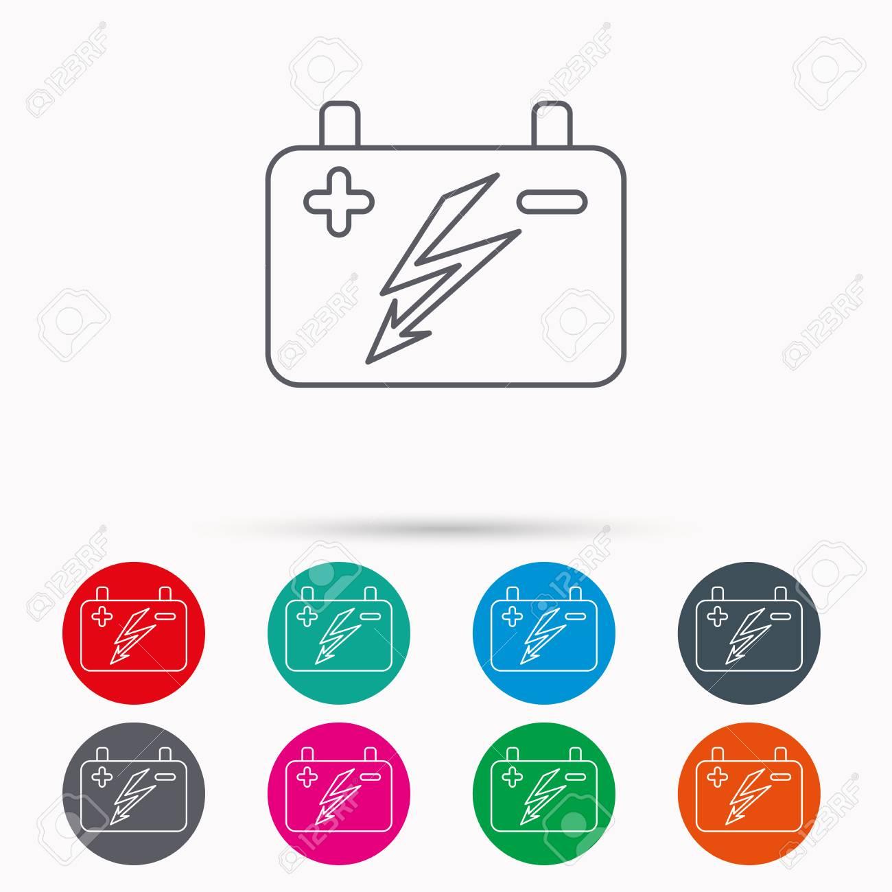 Accumulator-Symbol. Elektrische Batterie Zeichen. Lineare Symbole Im ...
