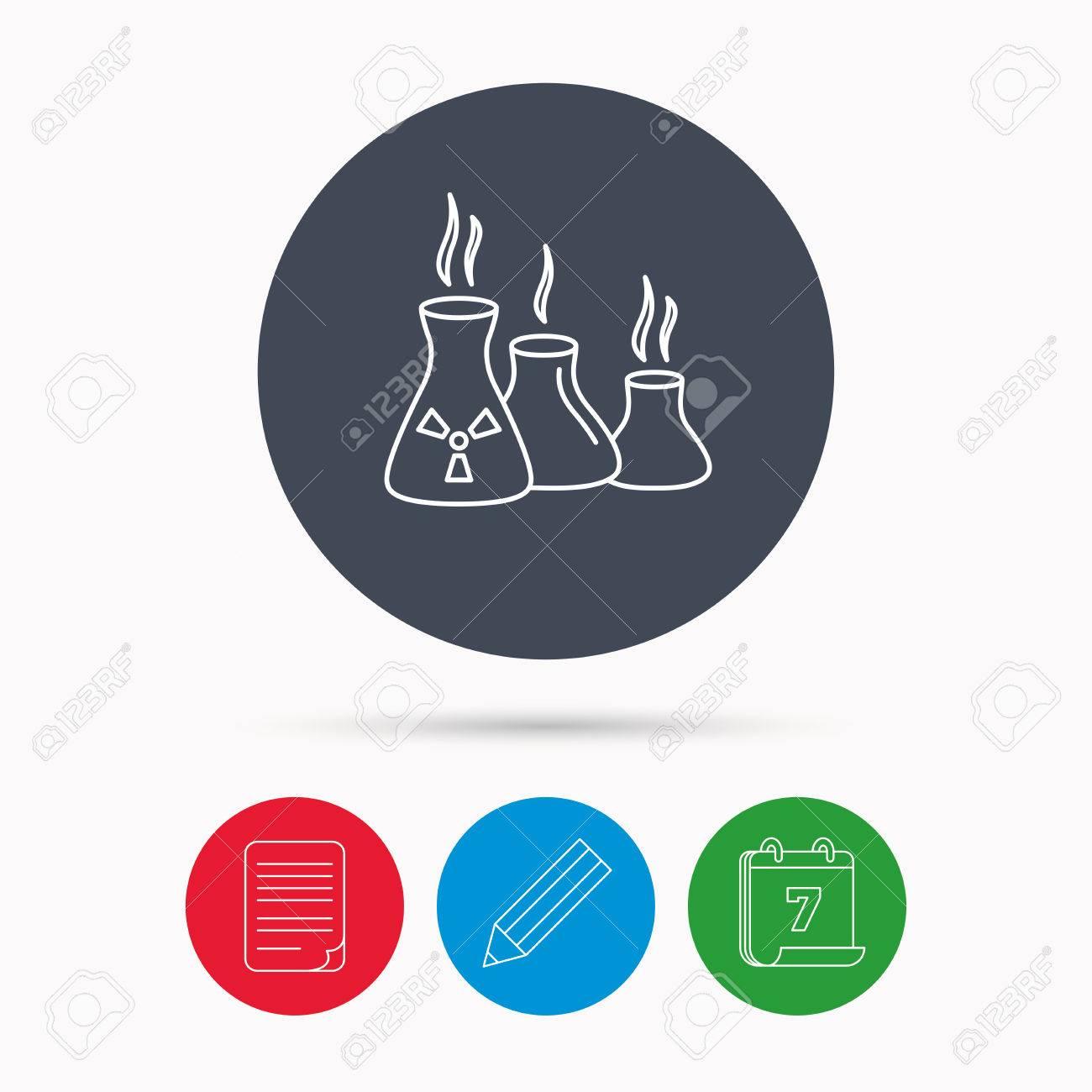 Industrie Gebäude-Symbol. Die Herstellung Zeichen. Chemische ...