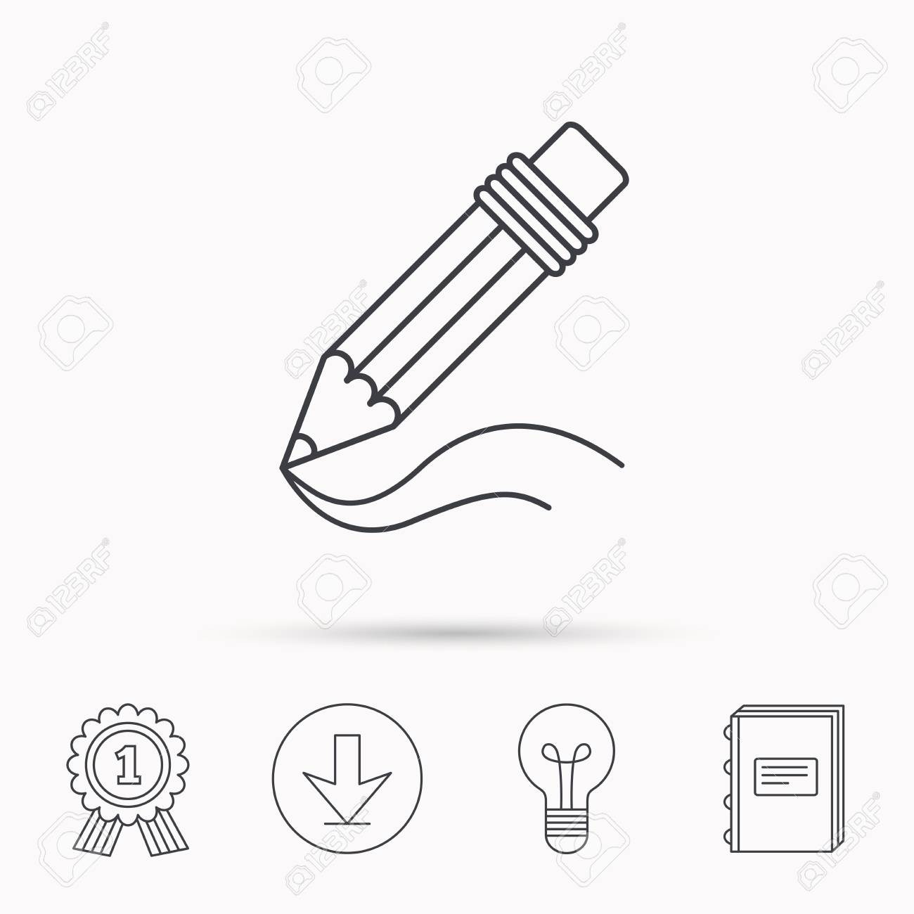 Drawing tool sign study equipment download arrow lamp learn