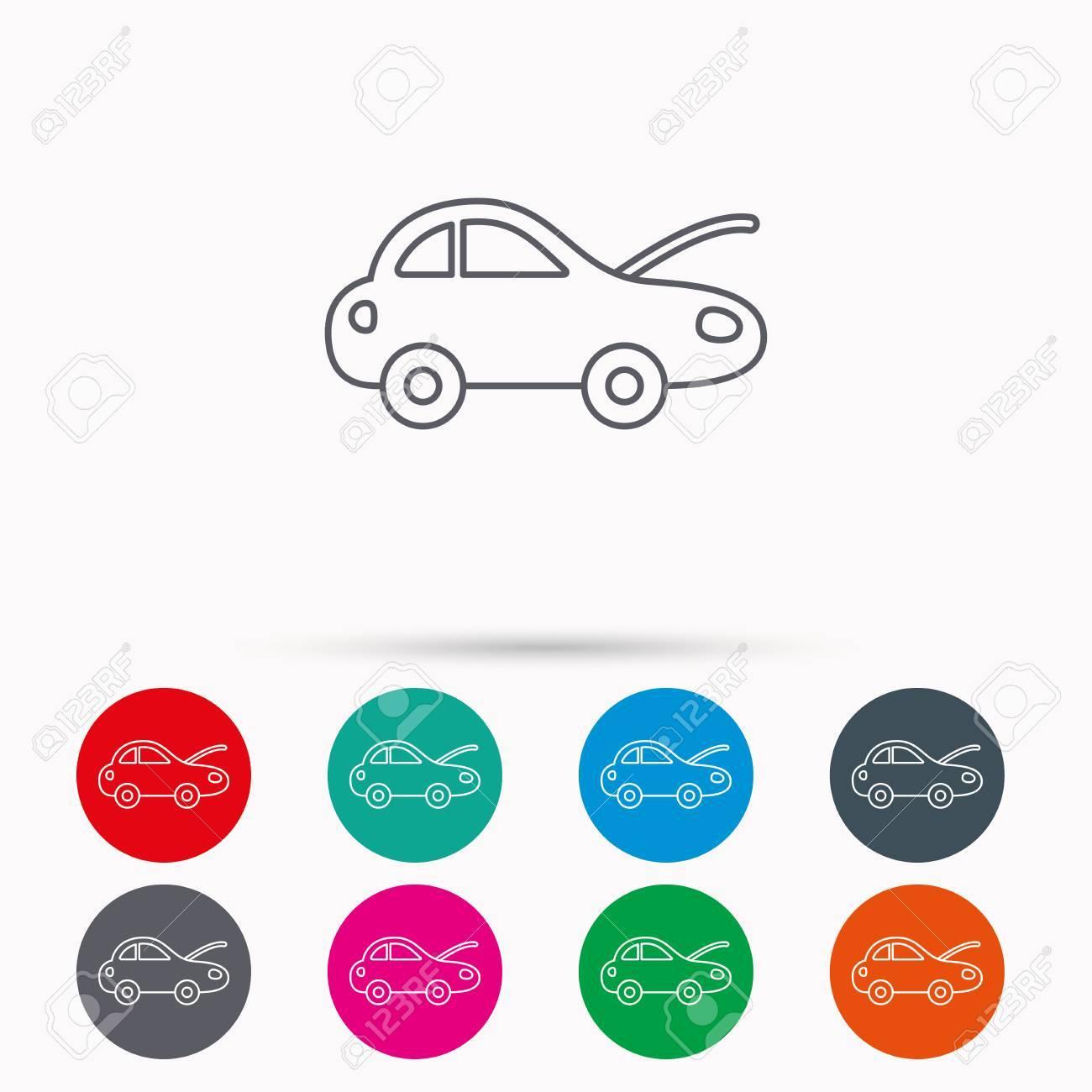 Auto-Reparatur-Symbol. Mechaniker Service-Zeichen. Lineare Symbole ...