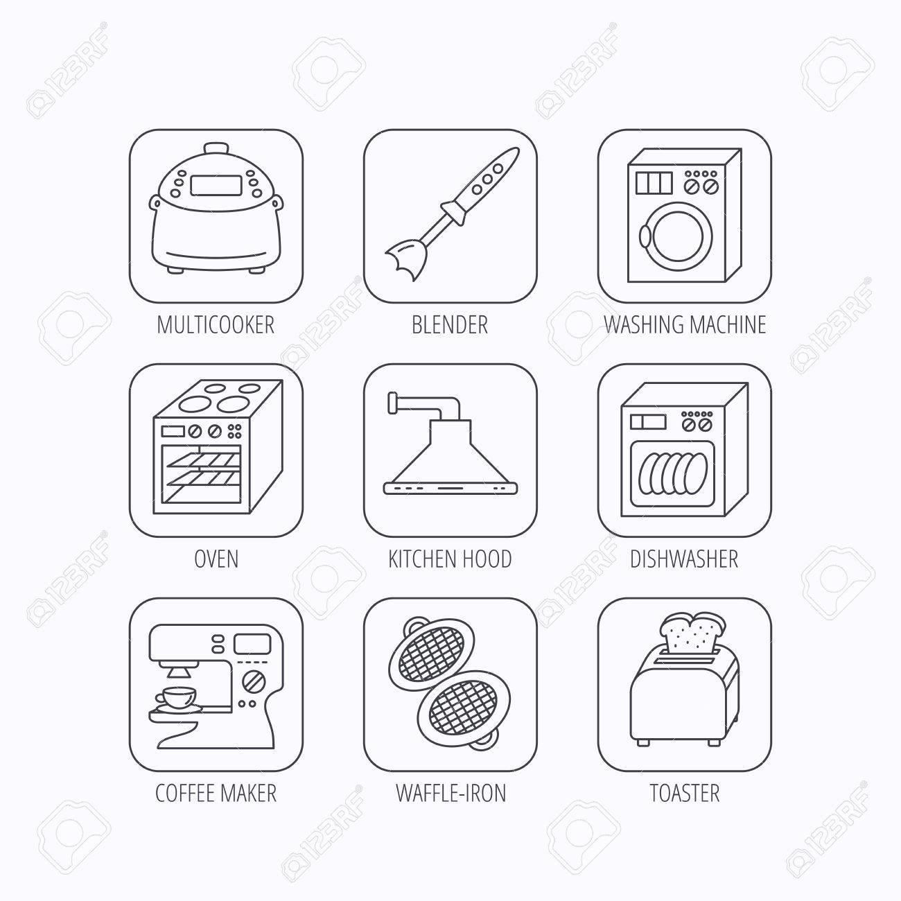 Favorit Spülmaschine, Waschmaschine Und Mixer-Symbole. Dunstabzugshaube MX68