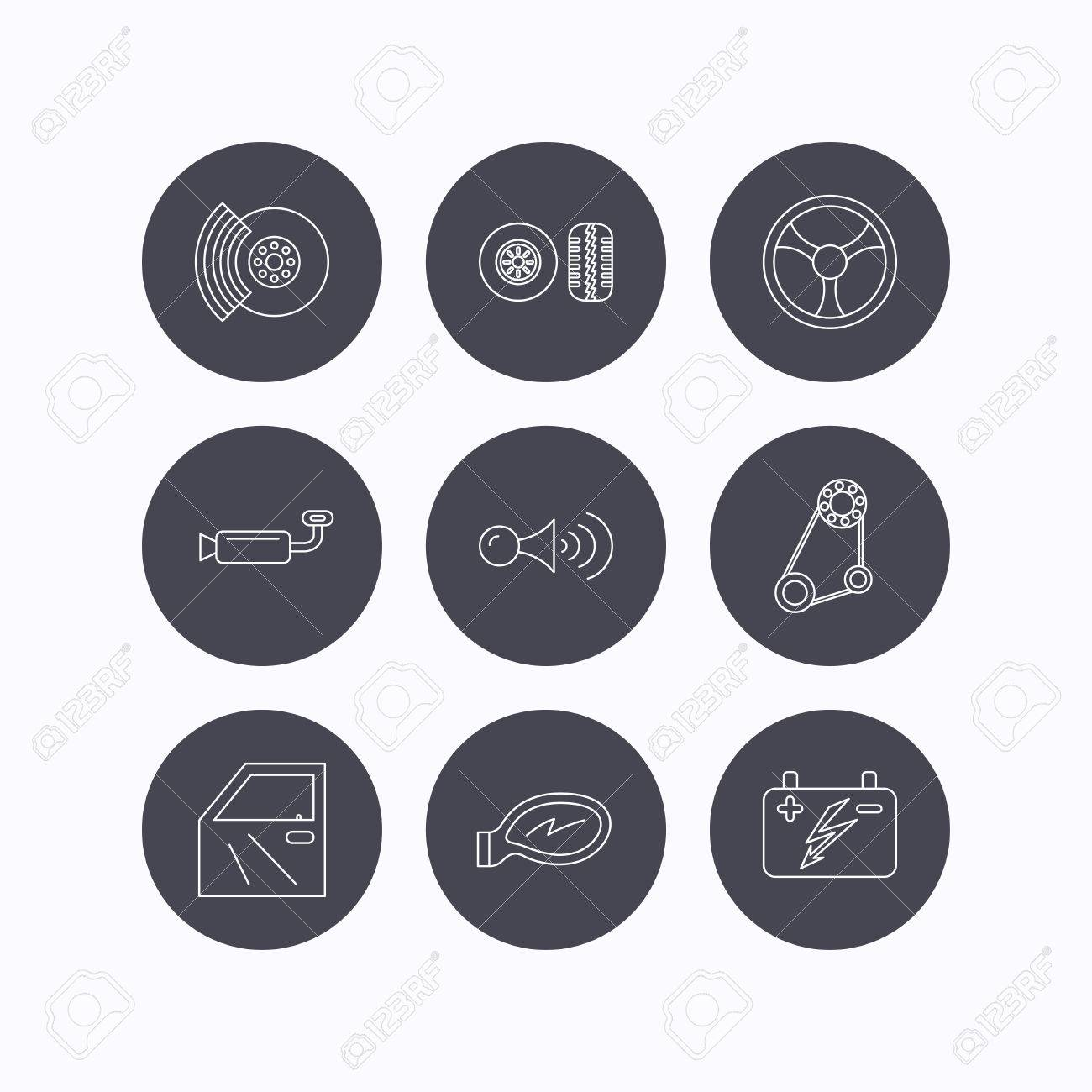 Accumulator brakes and steering wheel icons generator belt accumulator brakes and steering wheel icons generator belt klaxon signal and car mirror voltagebd Image collections