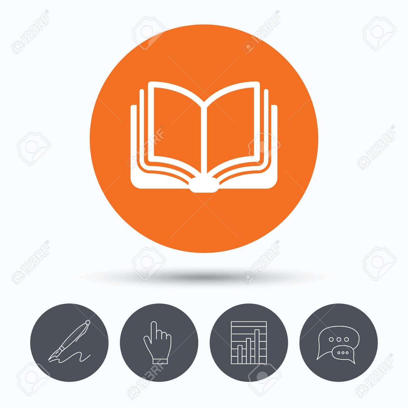 book icon study literature sign education textbook symbol  study literature sign education textbook symbol speech bubbles pen