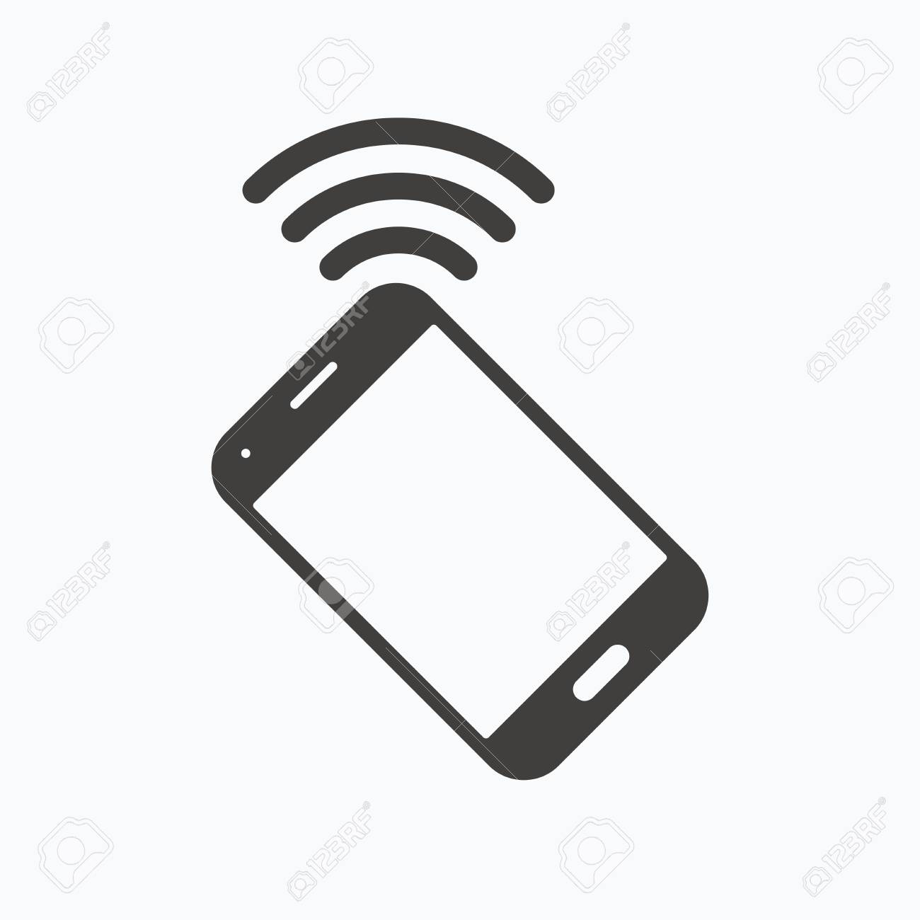 Cell Phone Icon >> Cellphone Icon Mobile Phone Communication Symbol Gray Flat