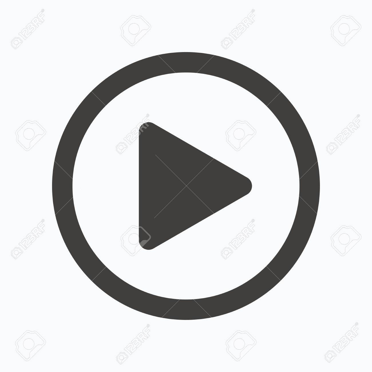 play icon audio or video player symbol gray flat web icon on rh 123rf com video icon vector free video icon vector ai