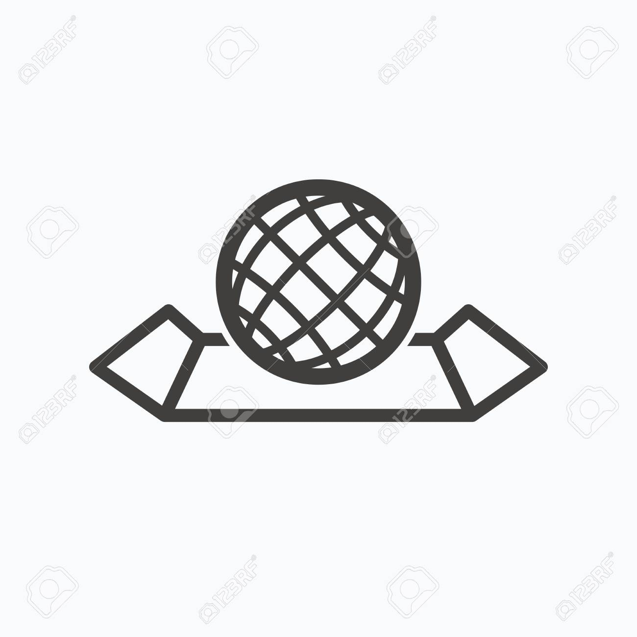 World map icon globe sign travel location symbol gray flat vector world map icon globe sign travel location symbol gray flat web icon on white background vector gumiabroncs Image collections