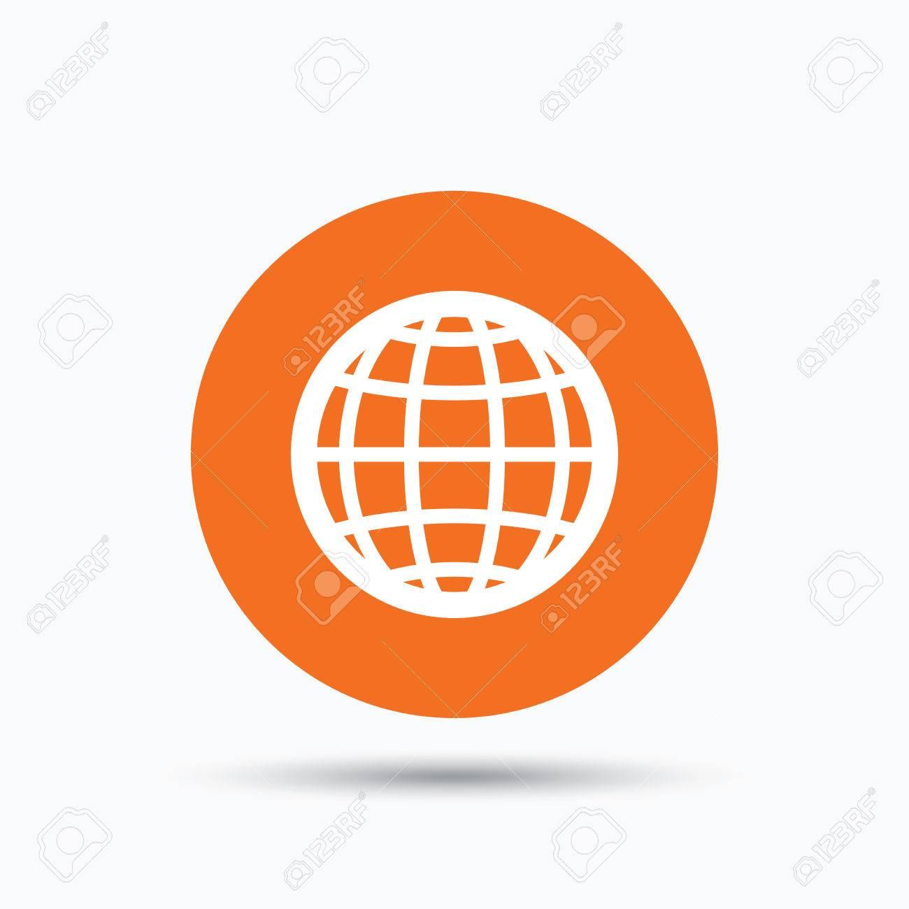 Icono Del Globo. Mundial O El Símbolo De Internet. Botón De ...