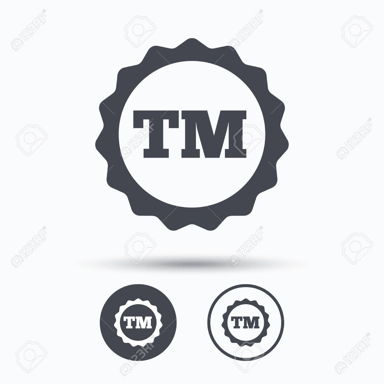 Registered Tm Trademark Icon Intellectual Work Protection Symbol