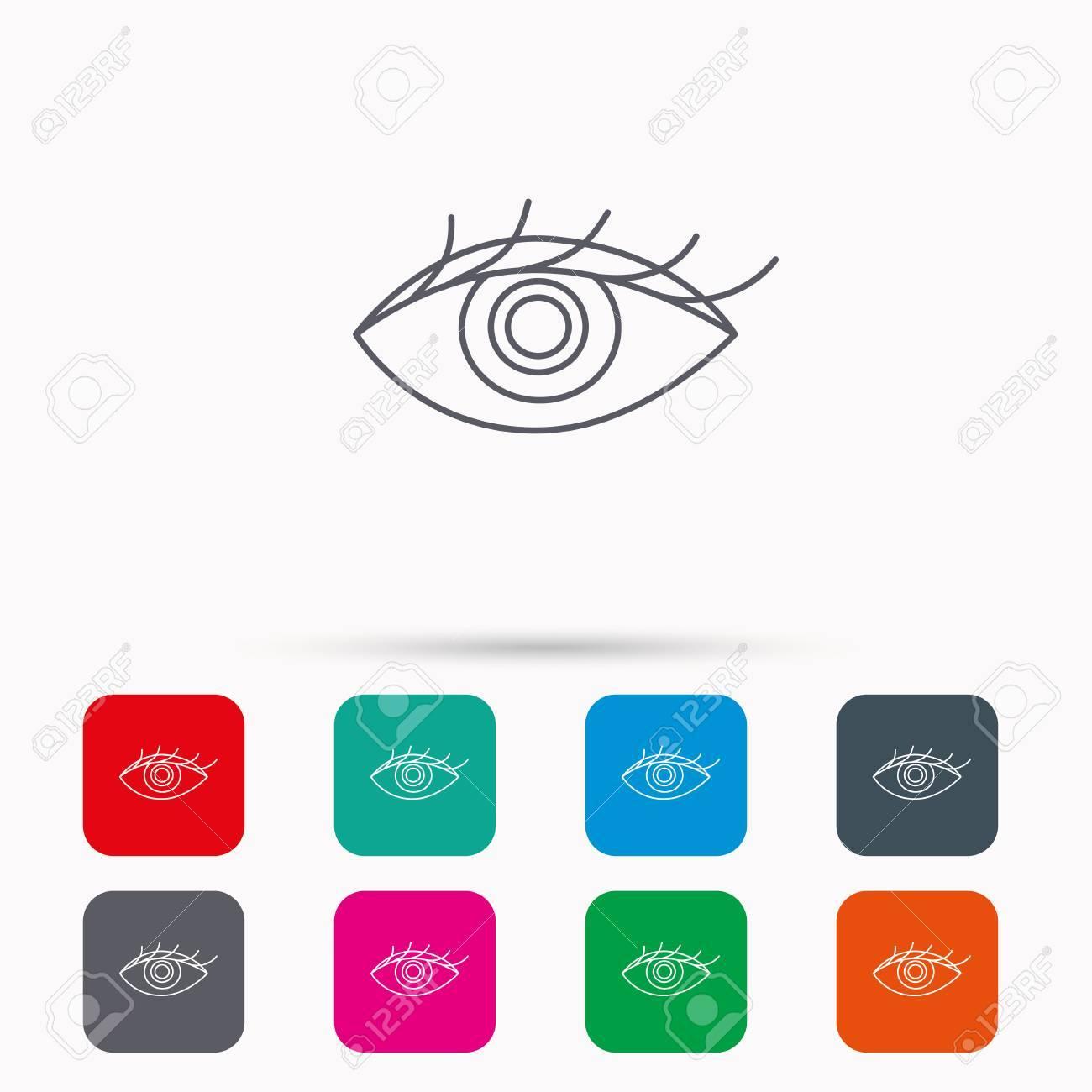 Augensymbol. Das Menschliche Auge Zeichen. Ophthalmology Symbol ...