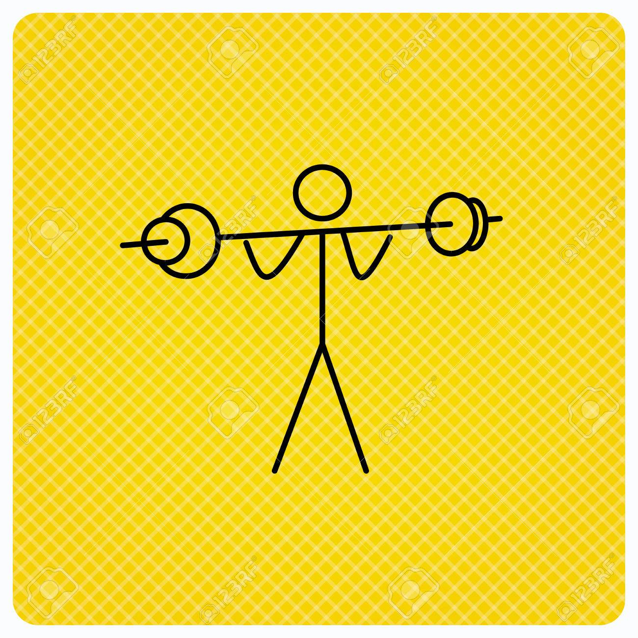 Weightlifting icon  Heavy fitness sign  Muscular workout symbol