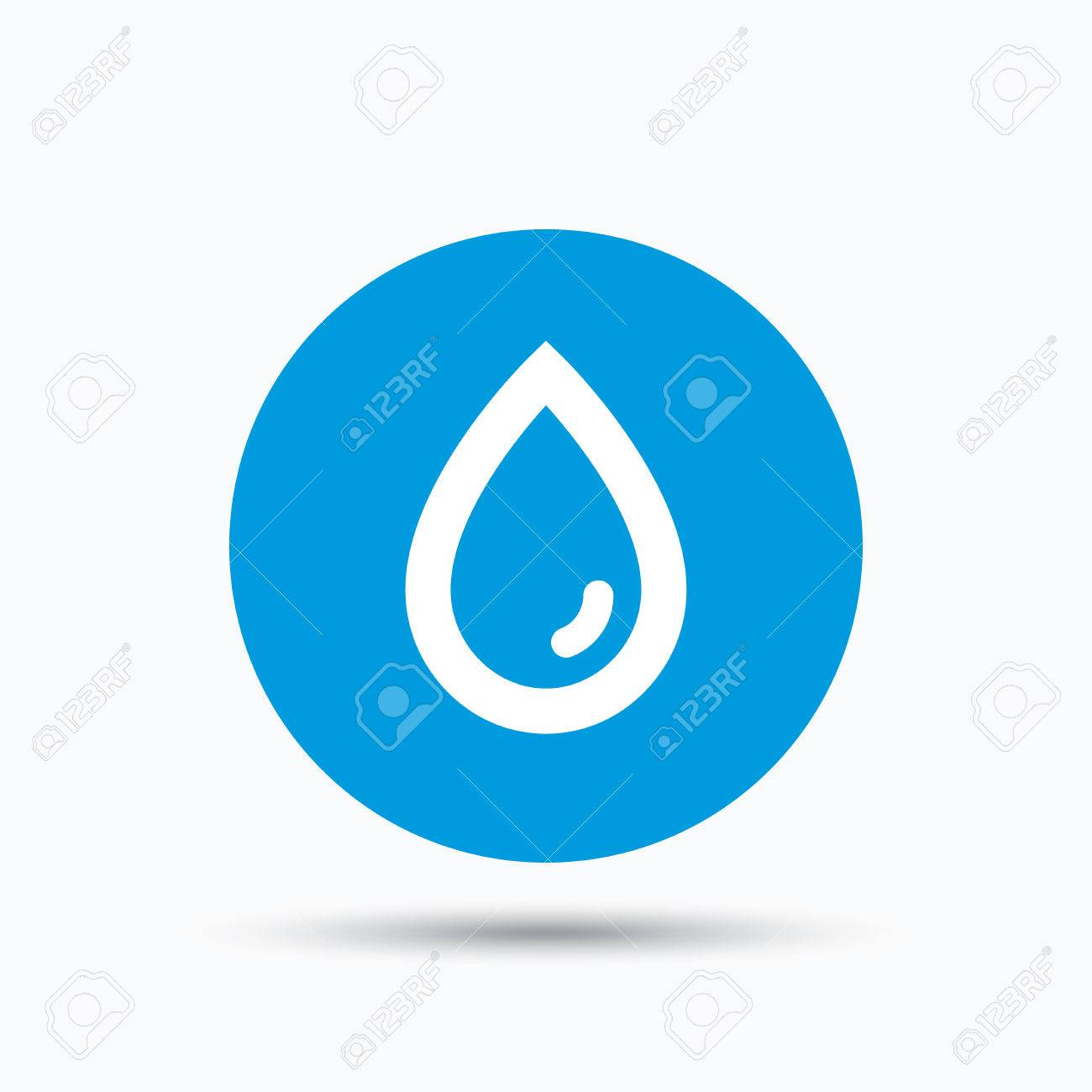 Water drop icon natural aqua symbol blue circle button with water drop icon natural aqua symbol blue circle button with flat web icon biocorpaavc Image collections