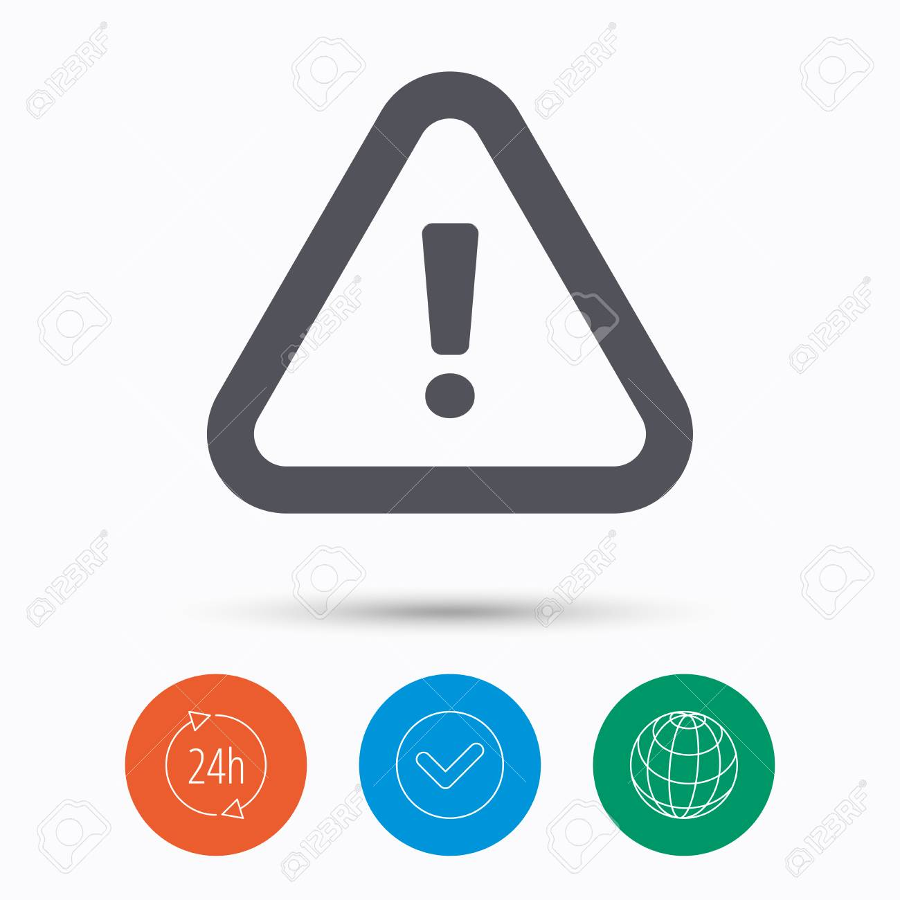 Warning icon attention exclamation mark symbol check tick attention exclamation mark symbol check tick 24 hours service and internet biocorpaavc Image collections