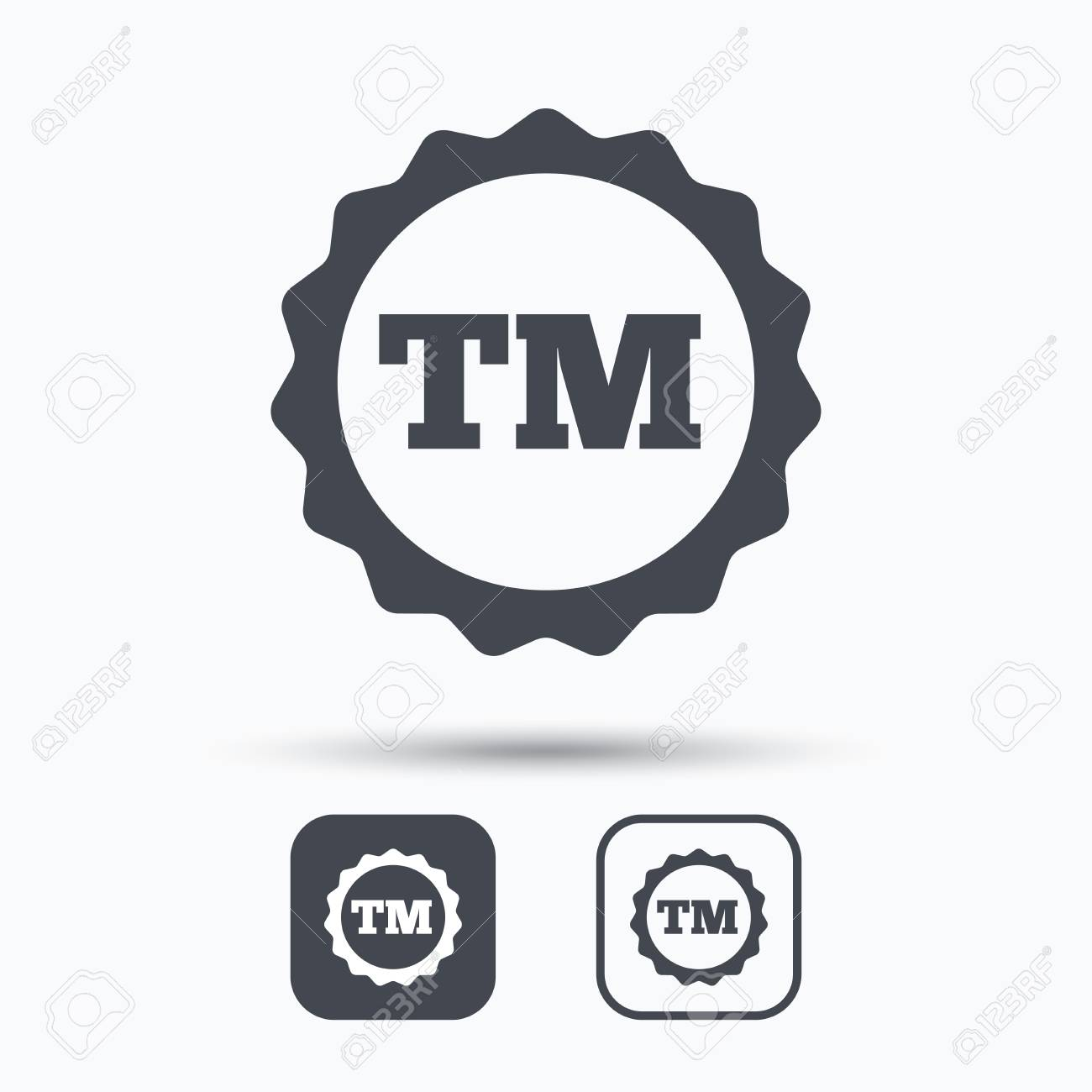 Registered tm trademark icon intellectual work protection symbol registered tm trademark icon intellectual work protection symbol square buttons with flat web icon biocorpaavc Choice Image