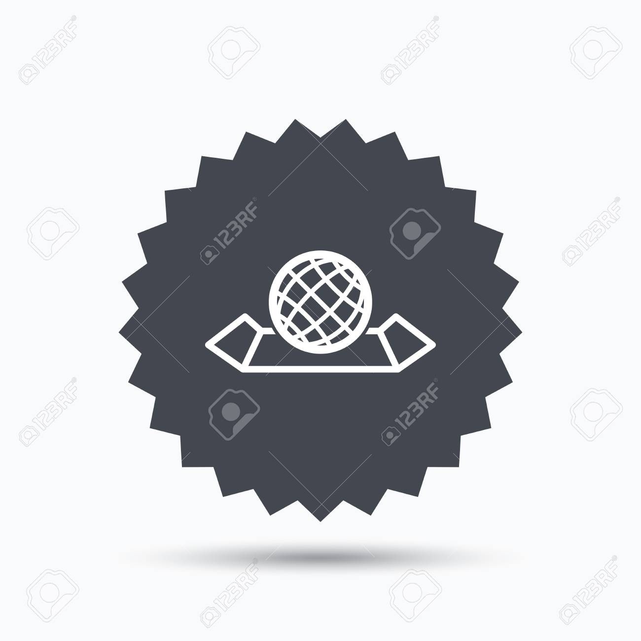 World map icon globe sign travel location symbol gray star vector world map icon globe sign travel location symbol gray star button with flat web icon vector gumiabroncs Image collections