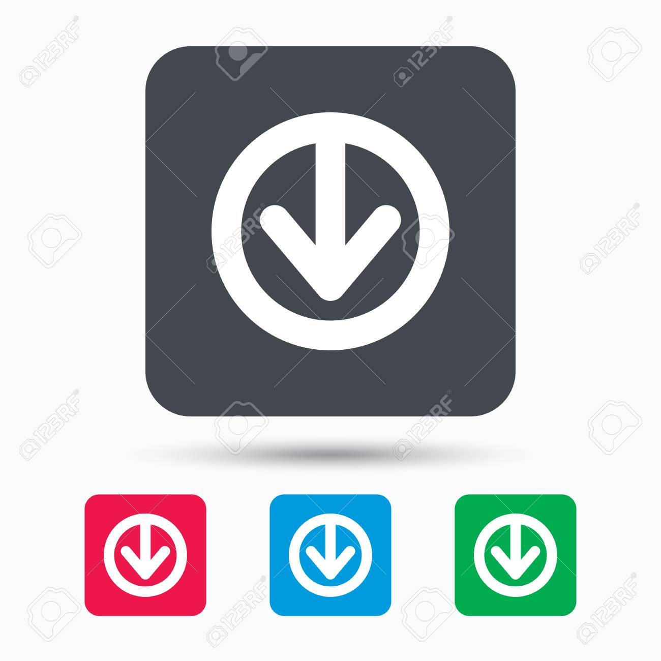 03216c71fcfd3 Descargar icono. Cargue el símbolo de datos de internet. Botones cuadrados  de colores con
