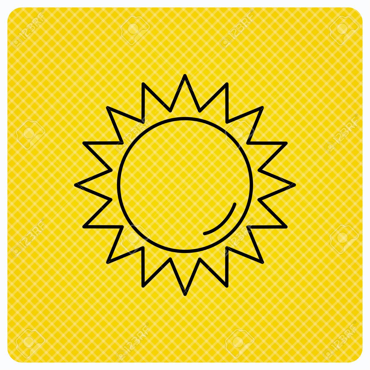 Sun Rays Icon Summer Sign Hot Weather Symbol Linear Icon On