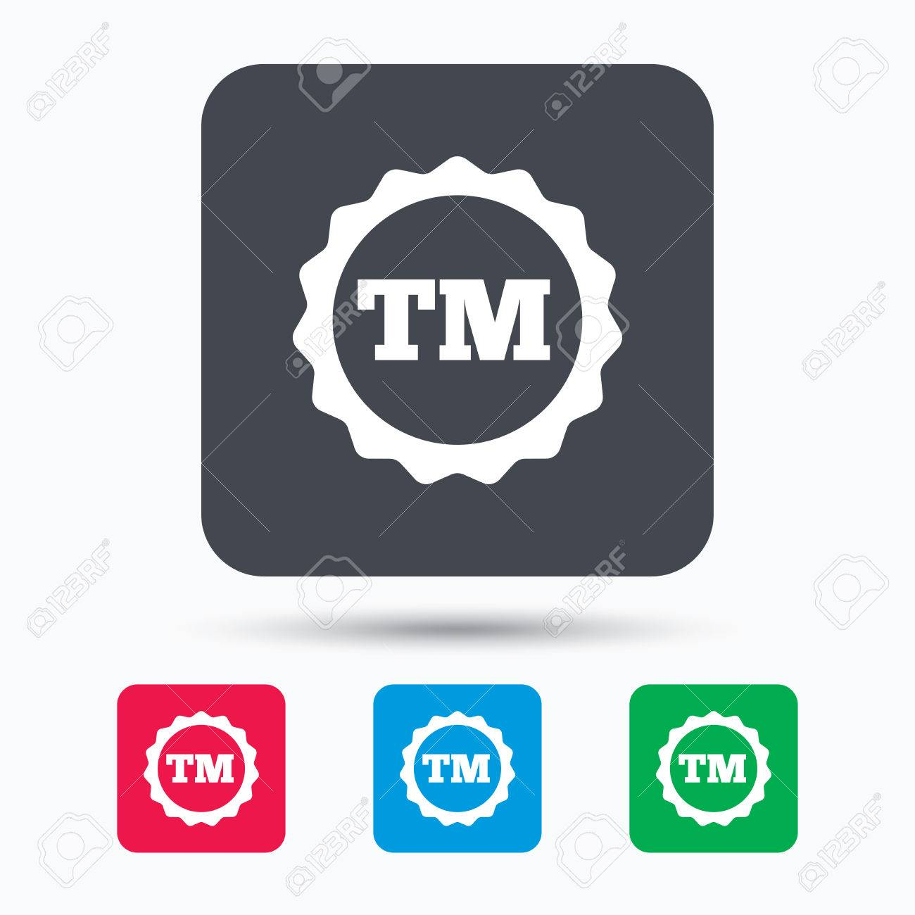 Registered tm trademark icon intellectual work protection symbol registered tm trademark icon intellectual work protection symbol colored square buttons with flat web buycottarizona