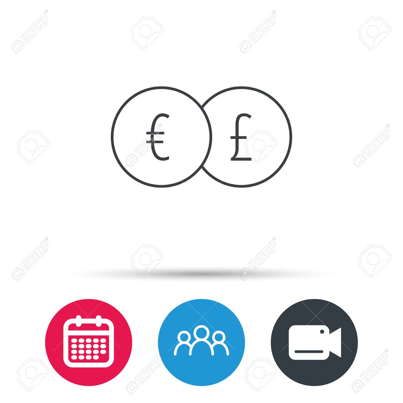 Currency exchange icon banking transfer sign euro to pound currency exchange icon banking transfer sign euro to pound symbol group of people biocorpaavc Images