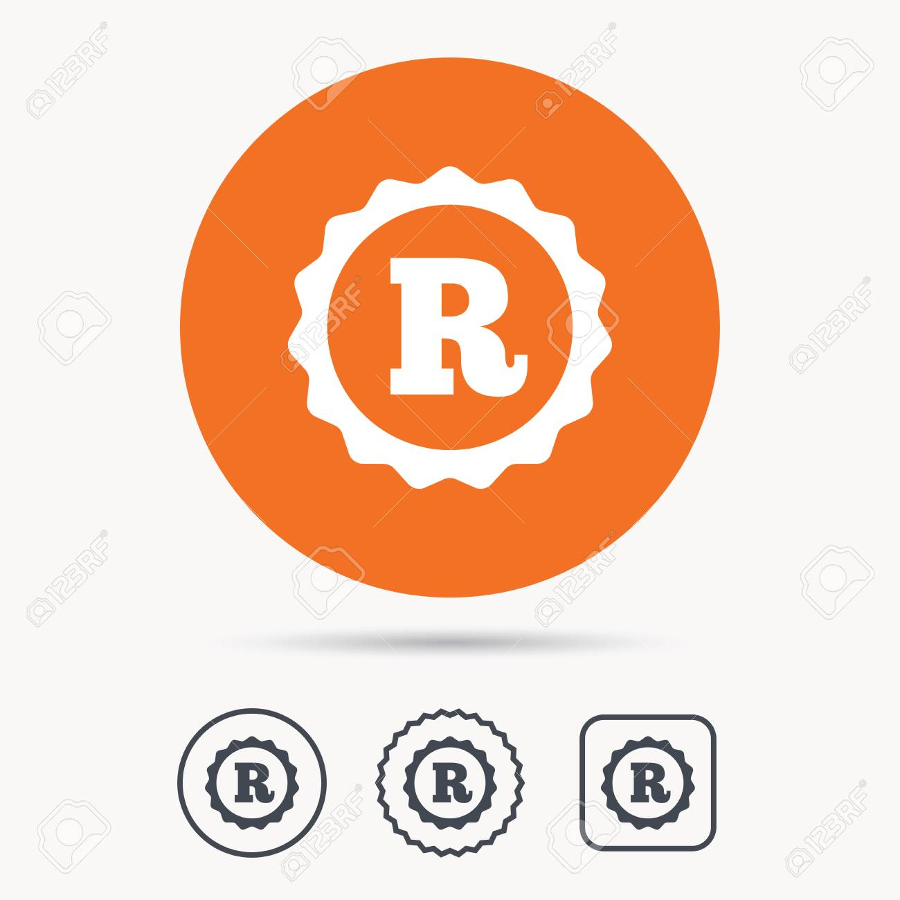 Registered Trademark Icon Intellectual Work Protection Symbol