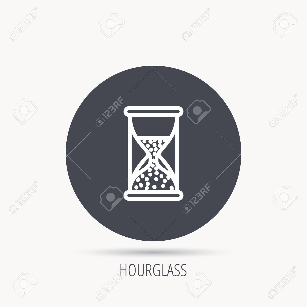 Hourglass Icon Sand Time Sign Half An Hour Symbol Round Web