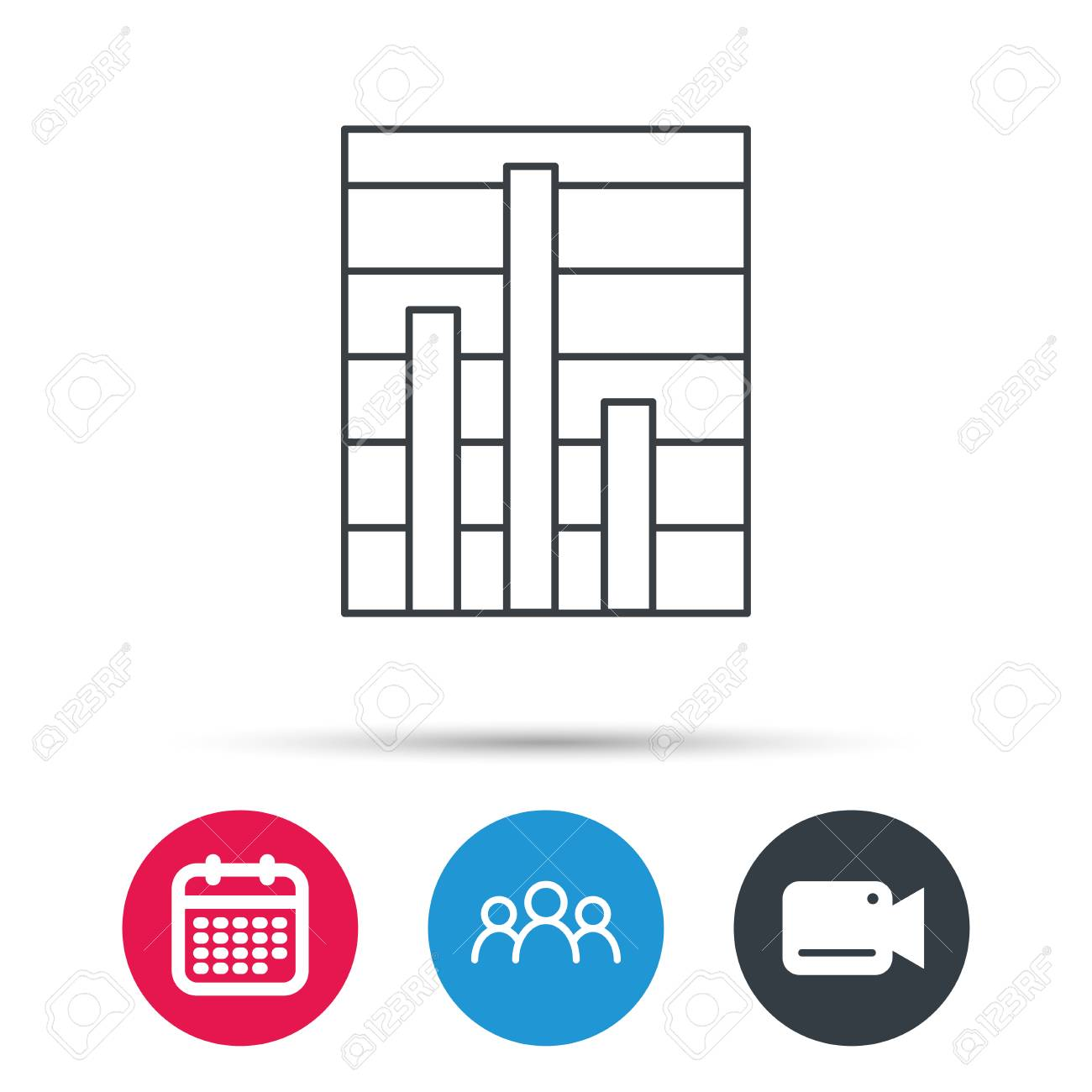Chart icon graph diagram sign demand reduction symbol group chart icon graph diagram sign demand reduction symbol group of people video ccuart Gallery