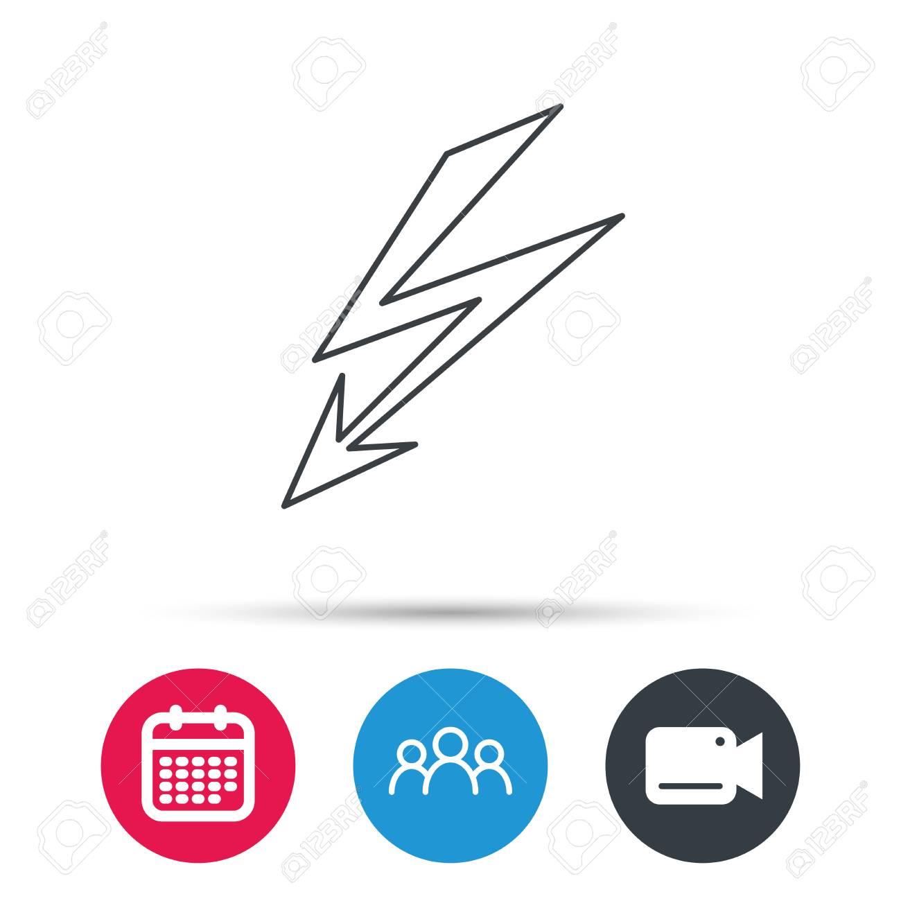 Lightening bolt icon power supply sign electricity symbol power supply sign electricity symbol group of people video buycottarizona