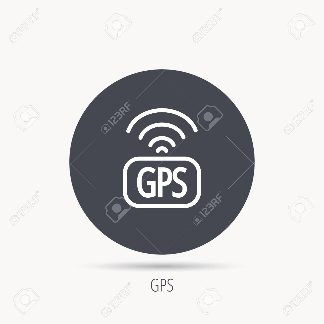 GPS Navigation Icon Map Positioning Sign Wireless Signal Symbol - Wireless signal map