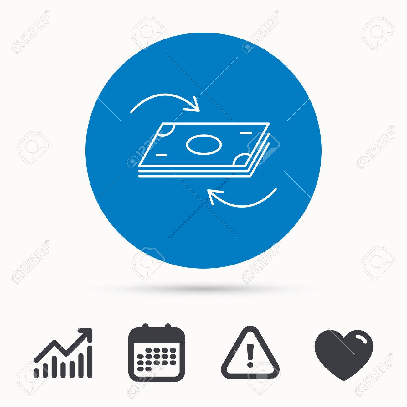 Money flow icon cash investment sign currency exchange symbol money flow icon cash investment sign currency exchange symbol calendar attention sign biocorpaavc Images