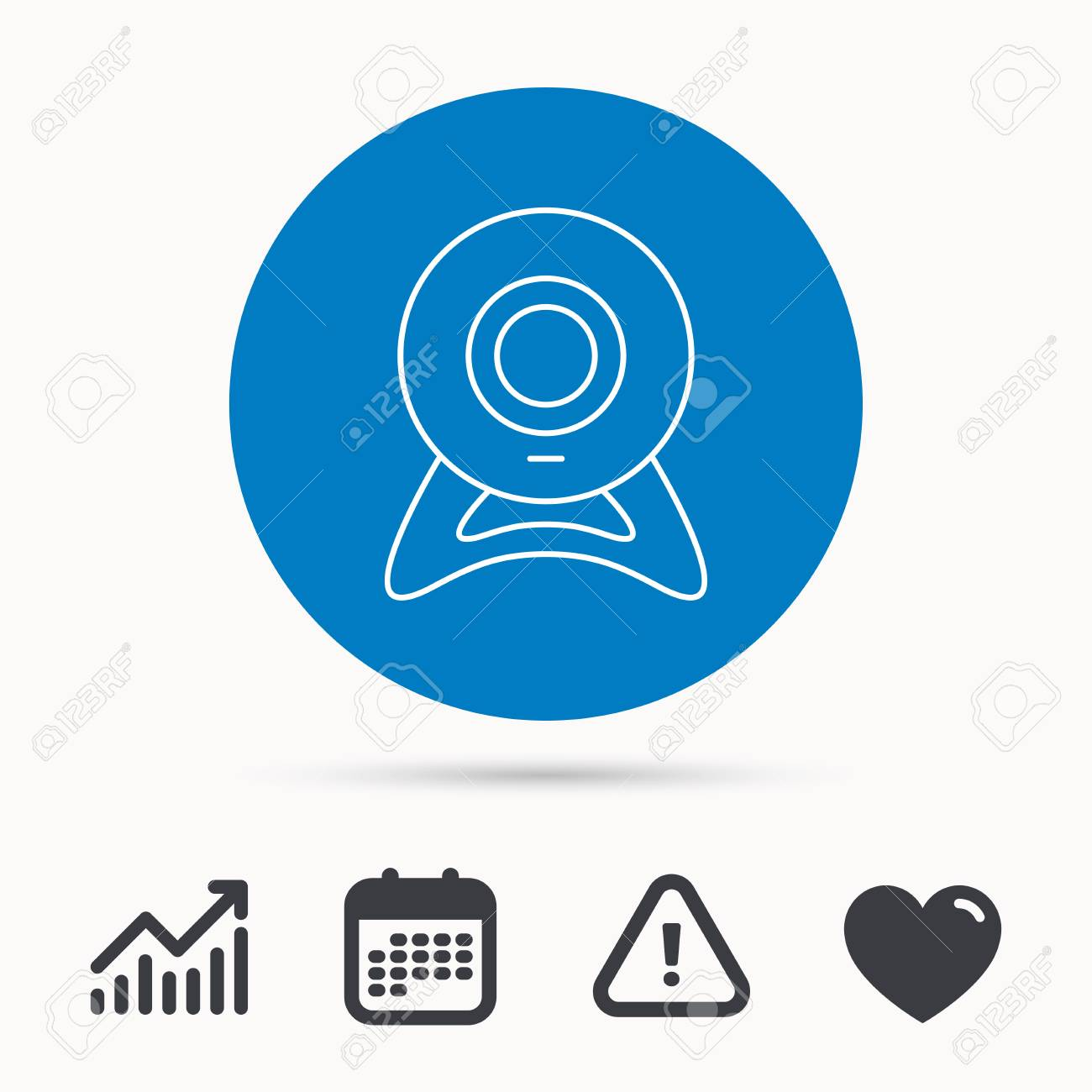 Web Cam Icon Video Camera Sign Online Communication Symbol