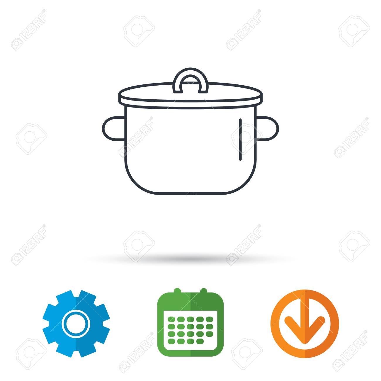 Icono De Pan. Signo De Olla De Cocina Símbolo De La Herramienta De ...