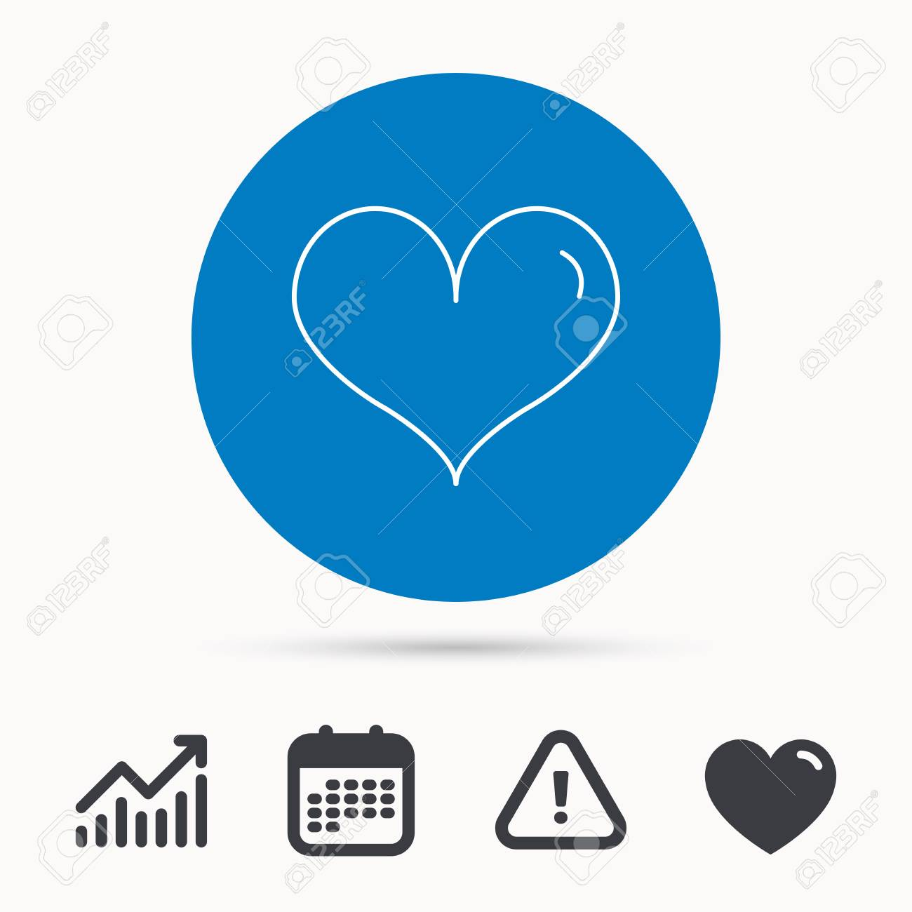 Heart Icon Love Sign Life Symbol Calendar Attention Sign And