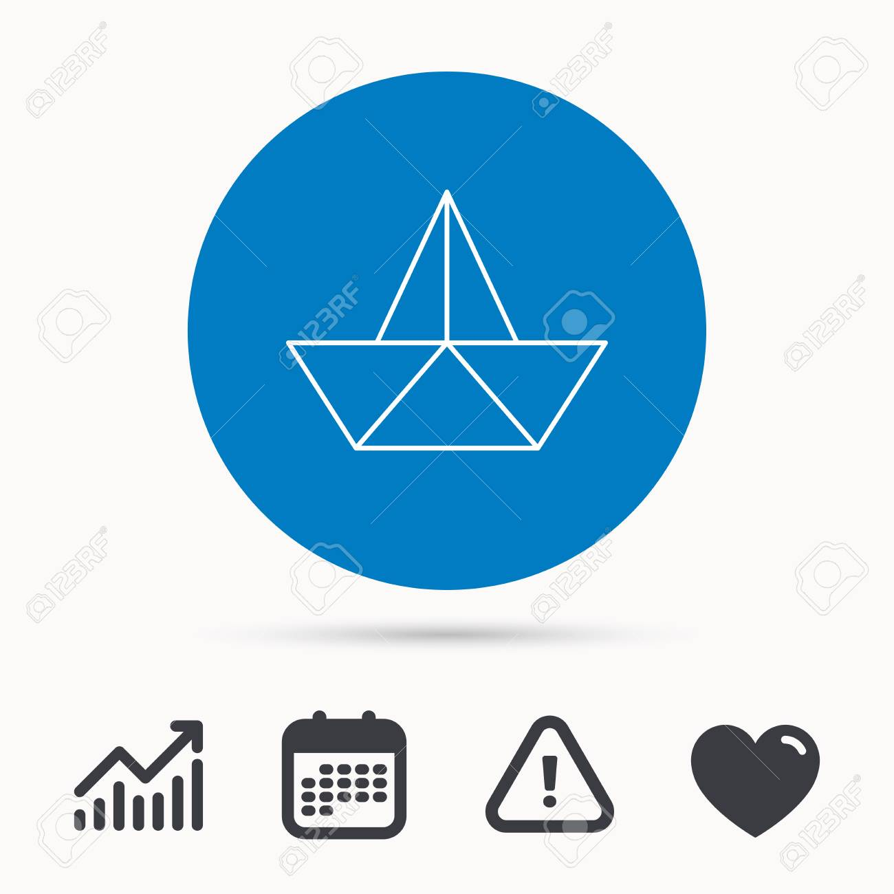 Paper boat icon origami ship sign sailing symbol calendar paper boat icon origami ship sign sailing symbol calendar attention sign and buycottarizona