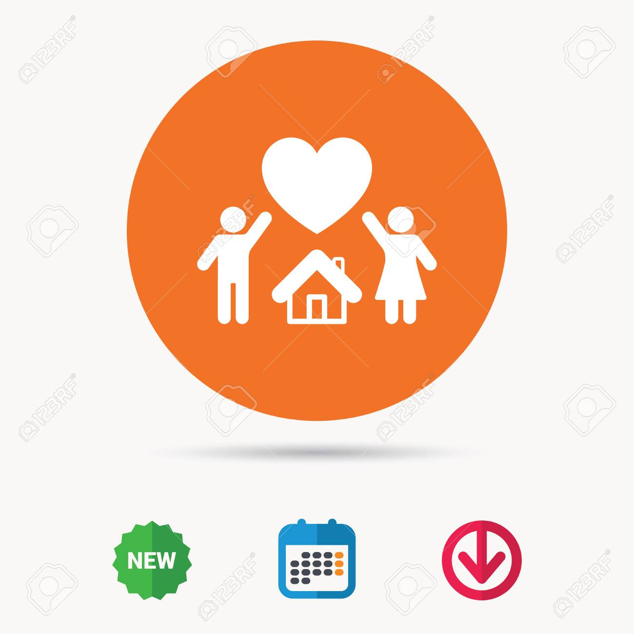 Family Icon Father Mother And Child Symbol Calendar Download