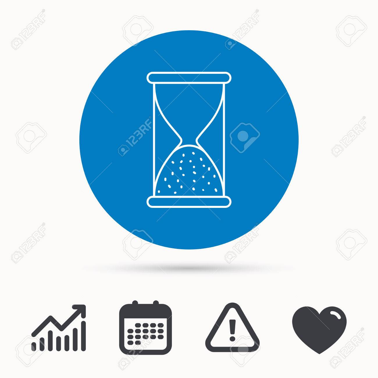Hourglass Icon Sand End Time Sign Hour Ends Symbol Calendar