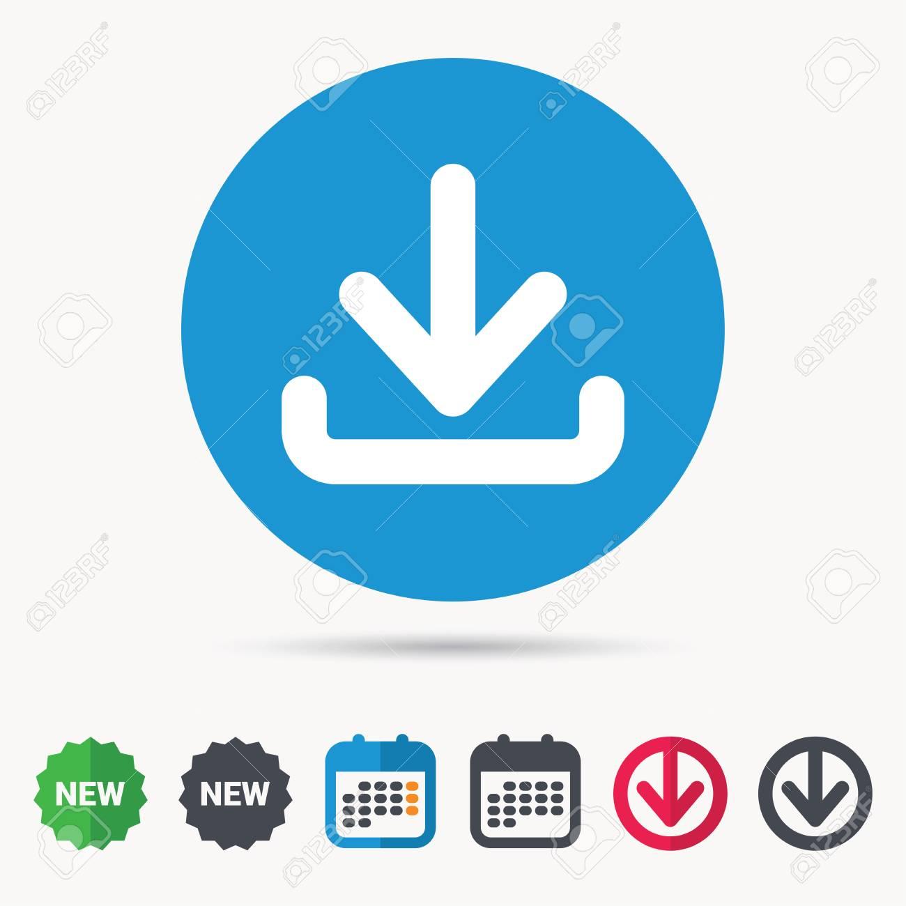 5d83ab420eacf Descargar Icono. Cargue El Símbolo De Datos De Internet. Calendario ...
