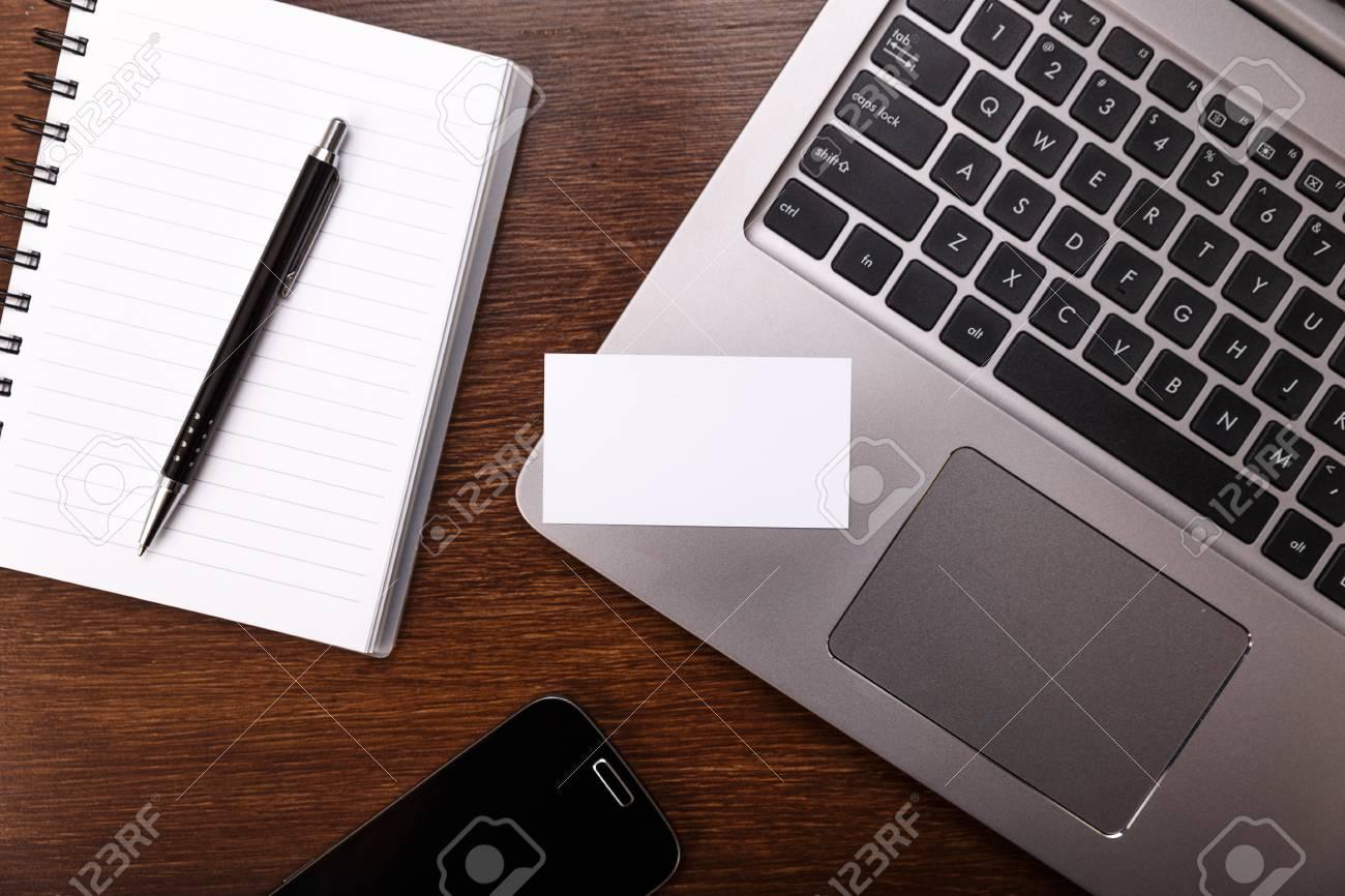 blank business card design mockup visiting card smartphone stock