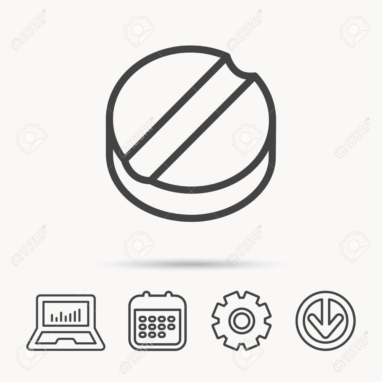 Tablet Icon Medicine Drug Sign Pharmaceutical Cure Symbol