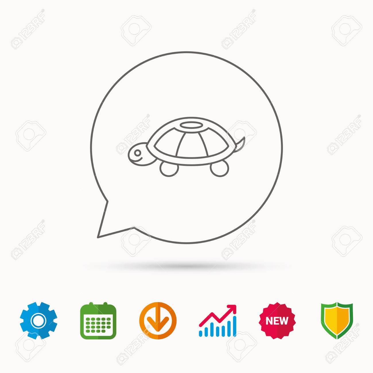 Turtle icon tortoise sign tortoiseshell symbol calendar graph turtle icon tortoise sign tortoiseshell symbol calendar graph chart and cogwheel signs biocorpaavc