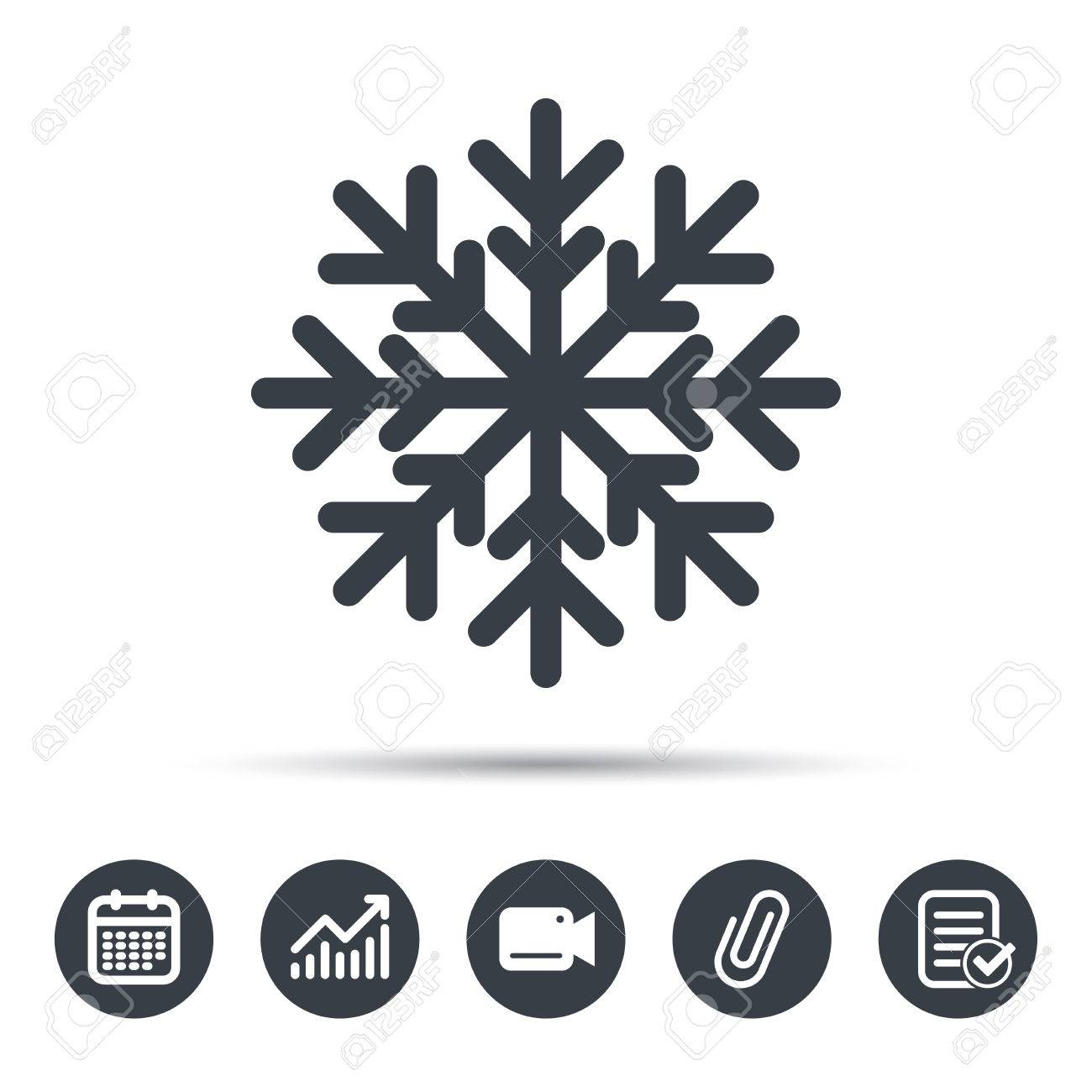 Snowflake Icon Air Conditioning Symbol Calendar Chart And