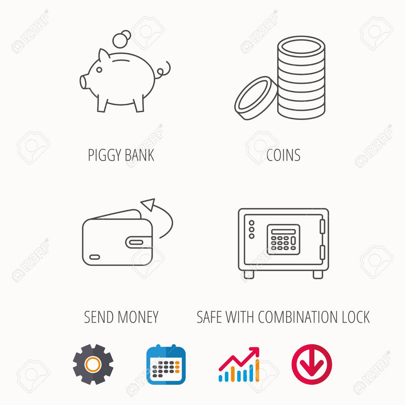 Diagram Of A Safety Box Trusted Wiring 2001 Chevrolet S 10 2200 Fuse Piggy Bank Cash Money And Wallet Icons Safe Send Linear 98 Chevy S10