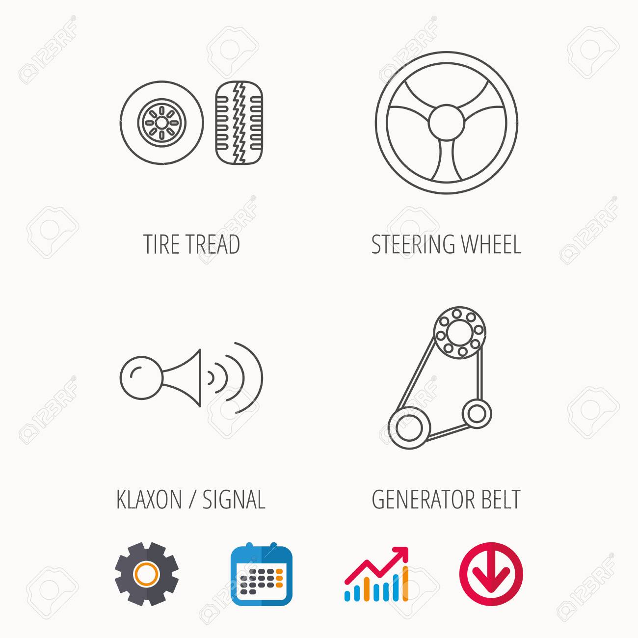 Contemporary Signal Generator Symbol Motif - Wiring Diagram Ideas ...